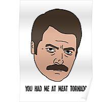 Ron Swanson - Meat Tornado Poster