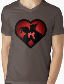 Love me MAD Mens V-Neck T-Shirt
