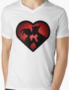 Love me MAD Mens V-Neck T-Shirt