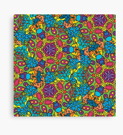 Psychedelic LSD Trip Ornament 0006 Canvas Print