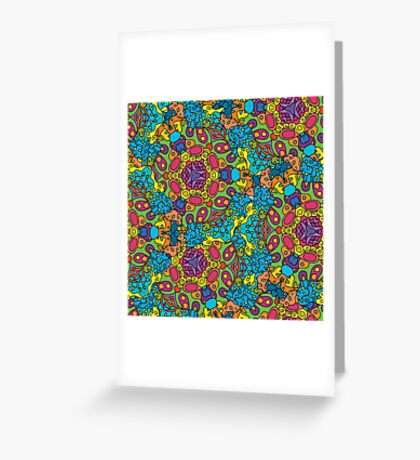 Psychedelic LSD Trip Ornament 0006 Greeting Card