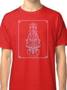 La Vie + La Mort: Rose Quartz & Serenity Ombré Classic T-Shirt