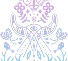 La Vie + La Mort: Rose Quartz & Serenity Ombré Sticker