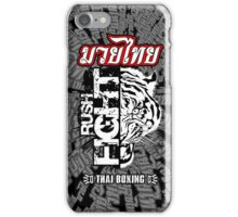 tiger muay thai fighter rush fight thailand martial art shirt logo iPhone Case/Skin