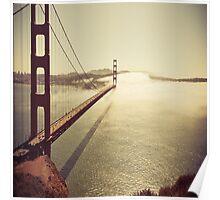 San Francisco Golden Gate Bridge Pillow Case Poster