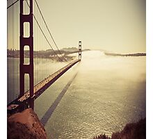 San Francisco Golden Gate Bridge Pillow Case Photographic Print