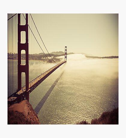 San Francisco Golden Gate Bridge Pillow Case Photographic Print