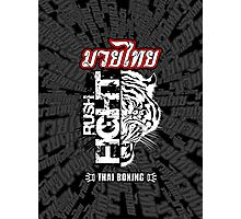 tiger muay thai fighter rush fight thailand martial art shirt logo Photographic Print