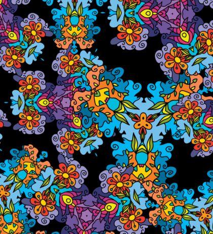 Psychedelic LSD Trip Ornament 0007 Sticker