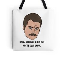 Ron Swanson - Crying Tote Bag