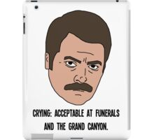 Ron Swanson - Crying iPad Case/Skin