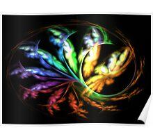 Rainbow Papillon Poster