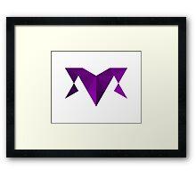 Purple Joker Framed Print