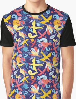 Floral pattern with birds  Graphic T-Shirt