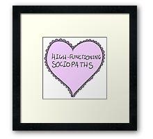 sociopath Framed Print