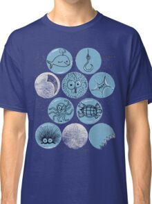 Cute Sea Animals Floating in Bubbles Classic T-Shirt