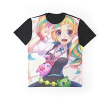 Colorful Hair Niko Graphic T-Shirt