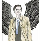 Temperance ~ Castiel Tarot Card ~ Watercolour by Erin Leigh Morrow