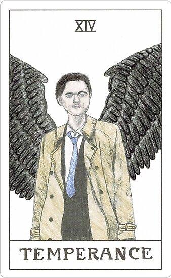 Temperance ~ Castiel Tarot Card ~ Watercolour by redstackk