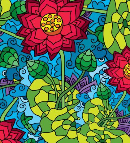Psychedelic LSD Trip Ornament 0009 Sticker