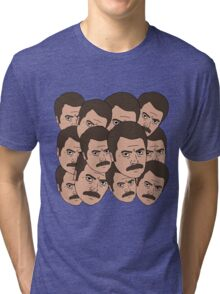 Too Many Ron Swansons Tri-blend T-Shirt