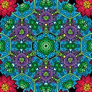 Psychedelic LSD Trip Ornament 0010 by Andrei Verner