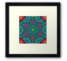 Psychedelic LSD Trip Ornament 0010 Framed Print