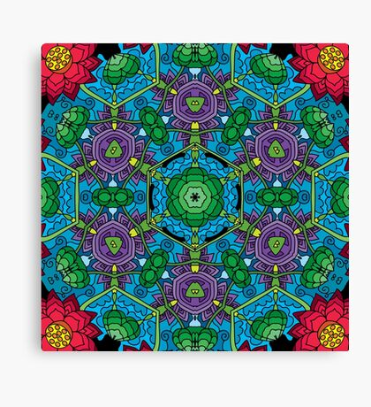 Psychedelic LSD Trip Ornament 0010 Canvas Print