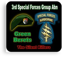 3rd Special Forces Group (Abn) Canvas Print