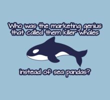 Who was the genius that called them killer whale instead of sea pandas? by nektarinchen