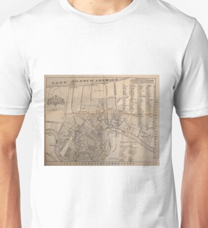 Vintage Map of New Orleans Louisiana (1902) Unisex T-Shirt