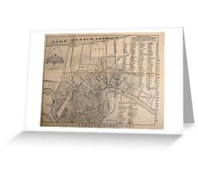 Vintage Map of New Orleans Louisiana (1902) Greeting Card