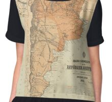 Vintage Map of Argentina (1882) Chiffon Top