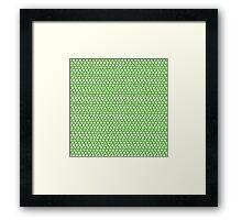Mickey Polka Dots in Tinkerbell Green Framed Print