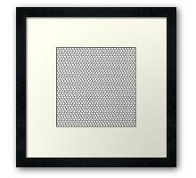 Mickey Polka Dots in Eeyore Grey Framed Print