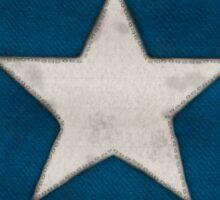 Hand Stitched Bonnie Blue Flag - Civil war Sticker