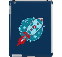 Retro rocket, planet, space, galaxy, science fiction, stars iPad Case/Skin