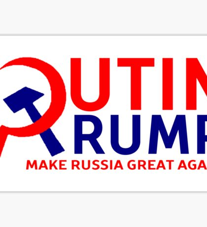 Putin Trump Make Russia Great Again Sticker