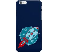 Retro rocket, planet, space, galaxy, science fiction, stars iPhone Case/Skin