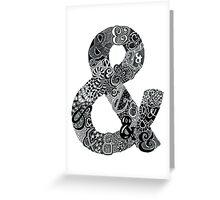 Ampersand Illustration Greeting Card