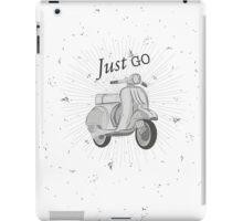 Retro Motorcycle iPad Case/Skin