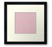 Mickey Polka Dots in Aurora Pink Framed Print