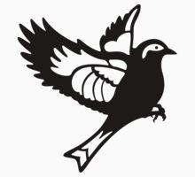 Black Sparrow One Piece - Short Sleeve