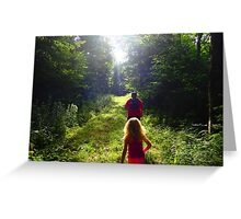 Morning Hike through the Woods Greeting Card