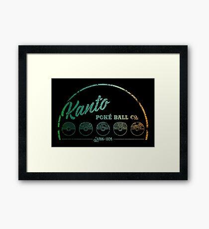 Green Kanto Poké Ball Company Framed Print