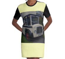 Vintage Sheffield Bus Graphic T-Shirt Dress