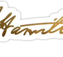 Alexander Hamilton Gold Signature Sticker