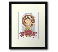 Art Nouveau in Blush Framed Print