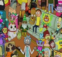 Rick and Morty - Where's Rick  Sticker