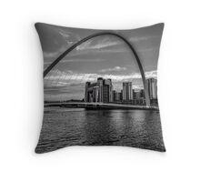 Gateshead Millenium Bridge Throw Pillow